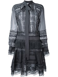 Ermanno Scervino Semi Sheer Shirt Dress Grey