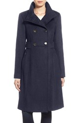 Eliza J Women's Stand Collar Wool Blend Military Coat