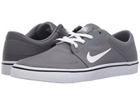 Nike Portmore Canvas Cool Grey Black White Men's Skate Shoes Gray