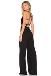 Oh My Love C'est La Vie Open Back Jumpsuit Black