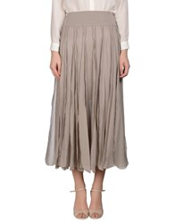European Culture Skirts 3 4 Length Skirts Women Dove Grey