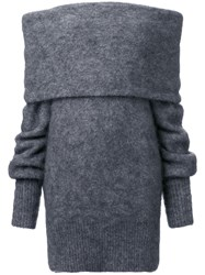 Irene Off Shoulder Jumper Grey