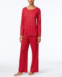 Charter Club Printed Knit Pajama Set Only At Macy's Red Scotties