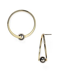 Aqua Aubrey Hoop Earrings Gold Silver
