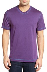 Men's Robert Graham 'Nomads' V Neck T Shirt Heather Purple