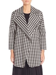 Pauw Houndstooth Coat Black White