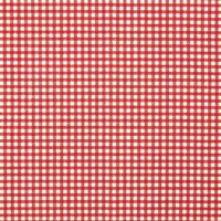 Unbranded Linen Look Gingham Cotton Fabric Red