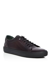 Ted Baker Kiing Leather Brogue Lace Up Sneakers Red