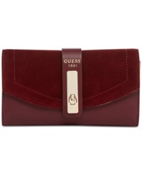Guess Kingsley Slim Clutch Wallet Bordeaux
