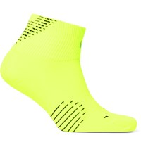 Nike Elite Lightweight Quarter Dri Fit Running Socks Bright Yellow