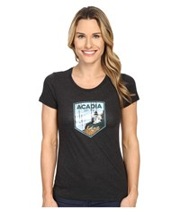 Columbia National Parks Tee Grey Heather Acadia Women's T Shirt Black