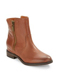 Kenneth Cole Marcy Leather Ankle Boots Cognac