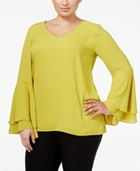 Alfani Plus Size Bell Sleeve Blouse Only At Macy's Luxe Lime