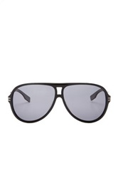 Hugo Boss Men's Polarized Plastic Aviator Sunglasses Black