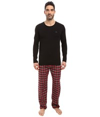 Michael Kors Flannel Sleep Set Garnet Men's Pajama Sets Red