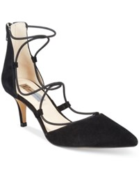 Inc International Concepts Daree Lace Up Pumps Only At Macy's Women's Shoes Black