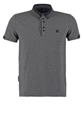 Voi Jeans Wright Polo Shirt Charcoal Mottled Dark Grey