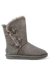 Australia Luxe Collective Renegade Shearling Lined Suede Boots Anthracite