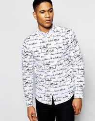 Izzue Shirt With Contrast Collar White