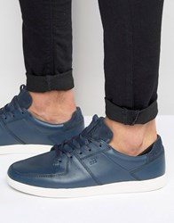 Boxfresh Cladd Leather Trainers Blue