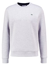 Lacoste Sweatshirt Silver Chine Navy Blue Mottled Light Grey