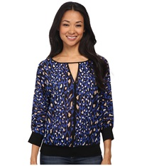 Trina Turk Greta Top Royal Women's Clothing Navy