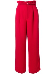 G.V.G.V. Textured Pleated Wide Trousers