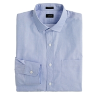J.Crew Tall Ludlow Spread Collar Shirt In End On End Cotton Fairweather Blue