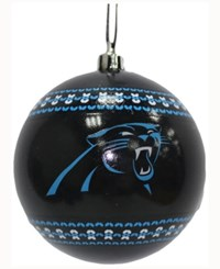 Memory Company Carolina Panthers Ugly Sweater Ball Ornament Black