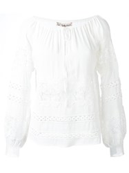 For Love And Lemons Embroidered Tunic White