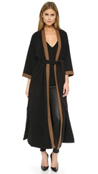Laveer Long Kimono With Belt Black