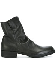 Fiorentini Baker Crease Effect Ankle Boots Black