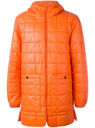 Stutterheim 'Stureby' Padded Coat Yellow Orange