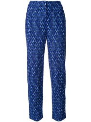 Missoni Knitted Cropped Trousers Blue