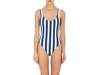 Solid And Striped Women's Anne Marie Microfiber Swimsuit Navy