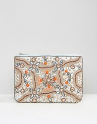 True Decadence Embellished Zip Top Pouch Multi