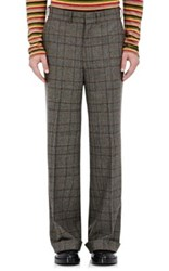 Junya Watanabe Man Comme Des Garcons Men's Glen Plaid Wide Leg Trousers Grey