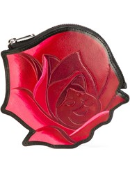 Marc By Marc Jacobs Disney X Marc By Marc Jacobs 'Garden Flower' Coin Pouch Pink And Purple
