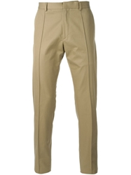 Valentino Straight Leg Chino Trousers Nude And Neutrals