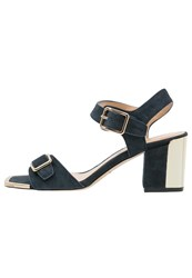 Chocolate Schubar Skylar Sandals Navy Dark Blue