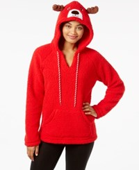 By Jennifer Moore Hooded Animal Pajama Top Only At Macy's Reindeer
