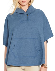 Lauren Ralph Lauren French Terry Shawl Poncho Blue