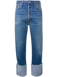 Re Done Straight Leg Jeans Blue
