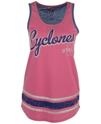 G3 Sports Women's Iowa State Cyclones Wild Card Rio Tank Top Pink Blue