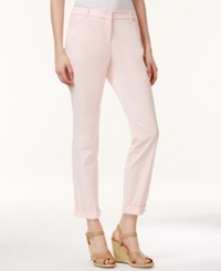 Charter Club Slim Fit Rolled Chino Pants Only At Macy's Pink Cloud