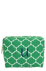 Cathy's Concepts Monogram Cosmetics Case Green U