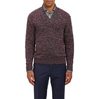 Inis Meain Shawl Collar Sweater Red