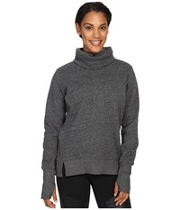 Alo Yoga Haze Long Sleeve Top Charcoal Heather Women's Workout Gray