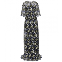 Erdem Carlene Floor Length Lace Dress Floral Bloom Guipure