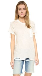 Nsf Lucy Tee White Destroy
